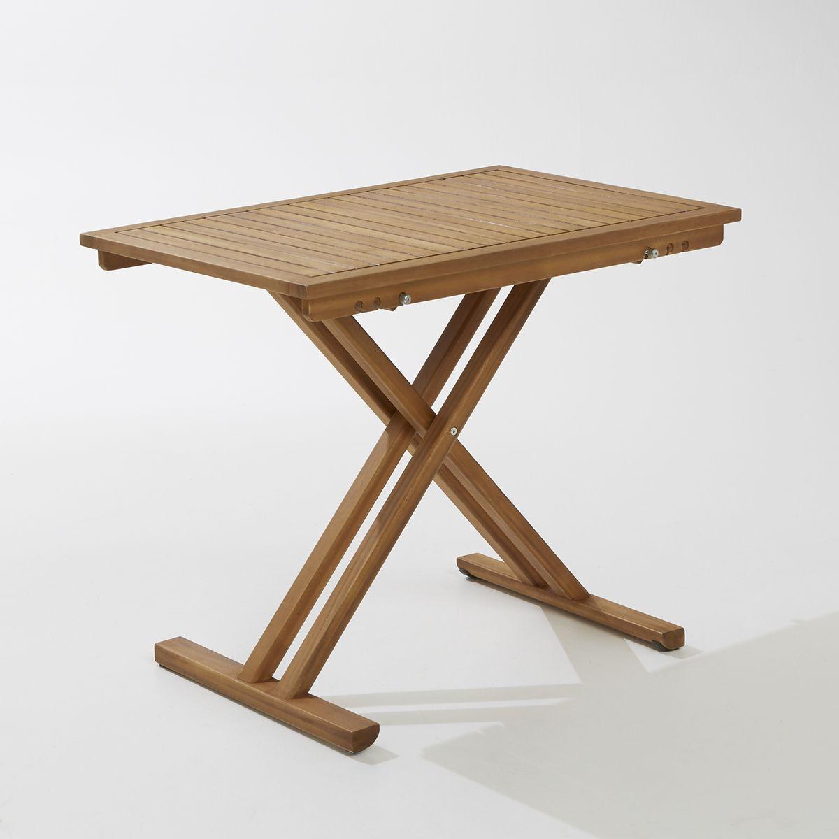 Table de jardin pliante en acacia et finition teck ...