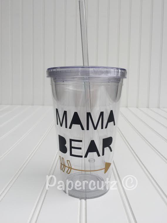 Mama Bear Tumbler Tumblr Custom Cups Birthday Gift
