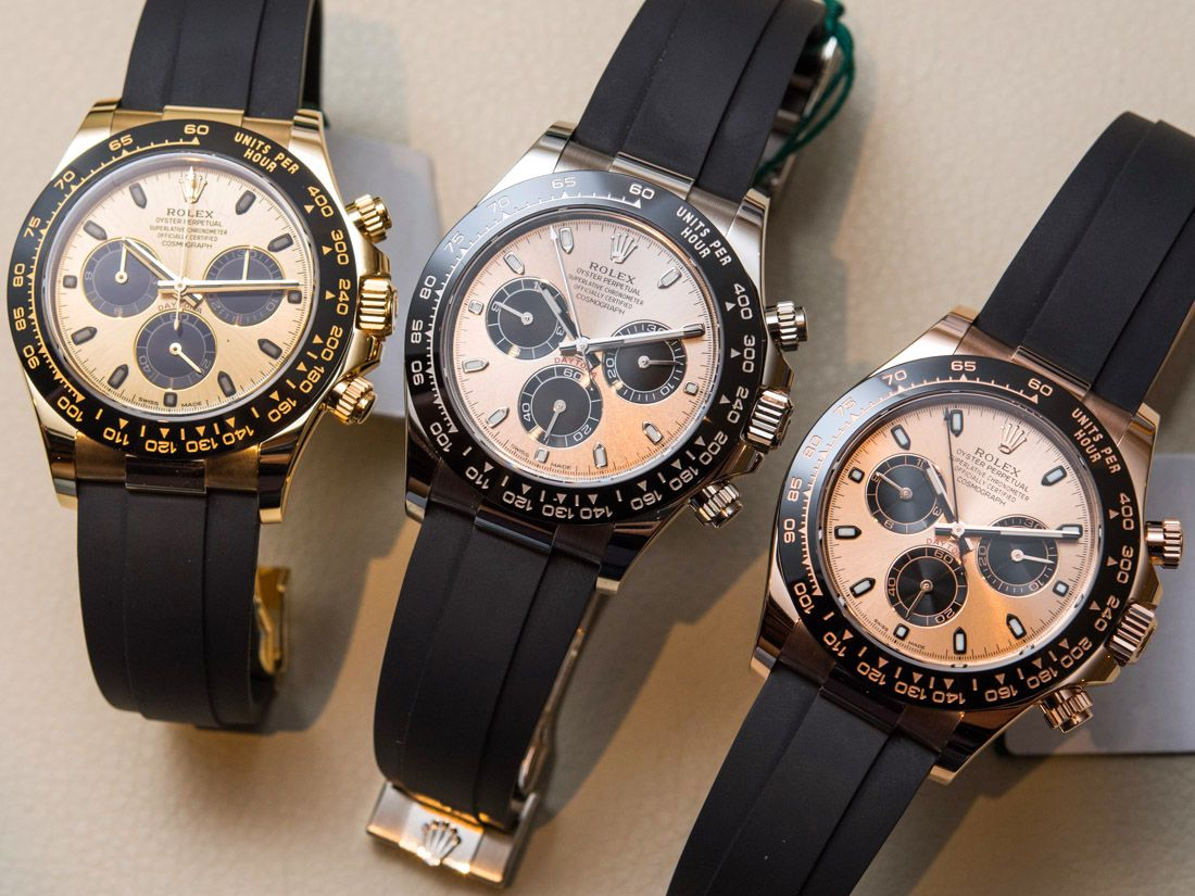 45447d6bee2 Rolex Cosmograph Daytona Watches In Gold With Oysterflex Rubber Strap    Ceramic Bezel Hands-On