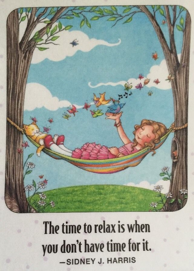 The Time To Relax-Mary Engelbreit Artwork Magnet