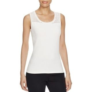 07edc9361521cd Shop for Elie Tahari Womens Geri Tank Top Open Stitch U-Neck. Free Shipping  on orders over  45 at Overstock.com - Your Online Women s Clothing  Destination!