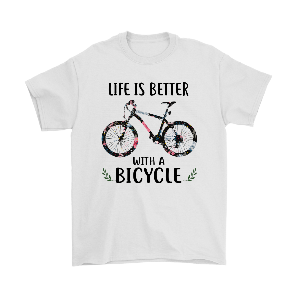 Life Is Better With A Bicycle Floral Shirts Snoopy T Shirt Nfl