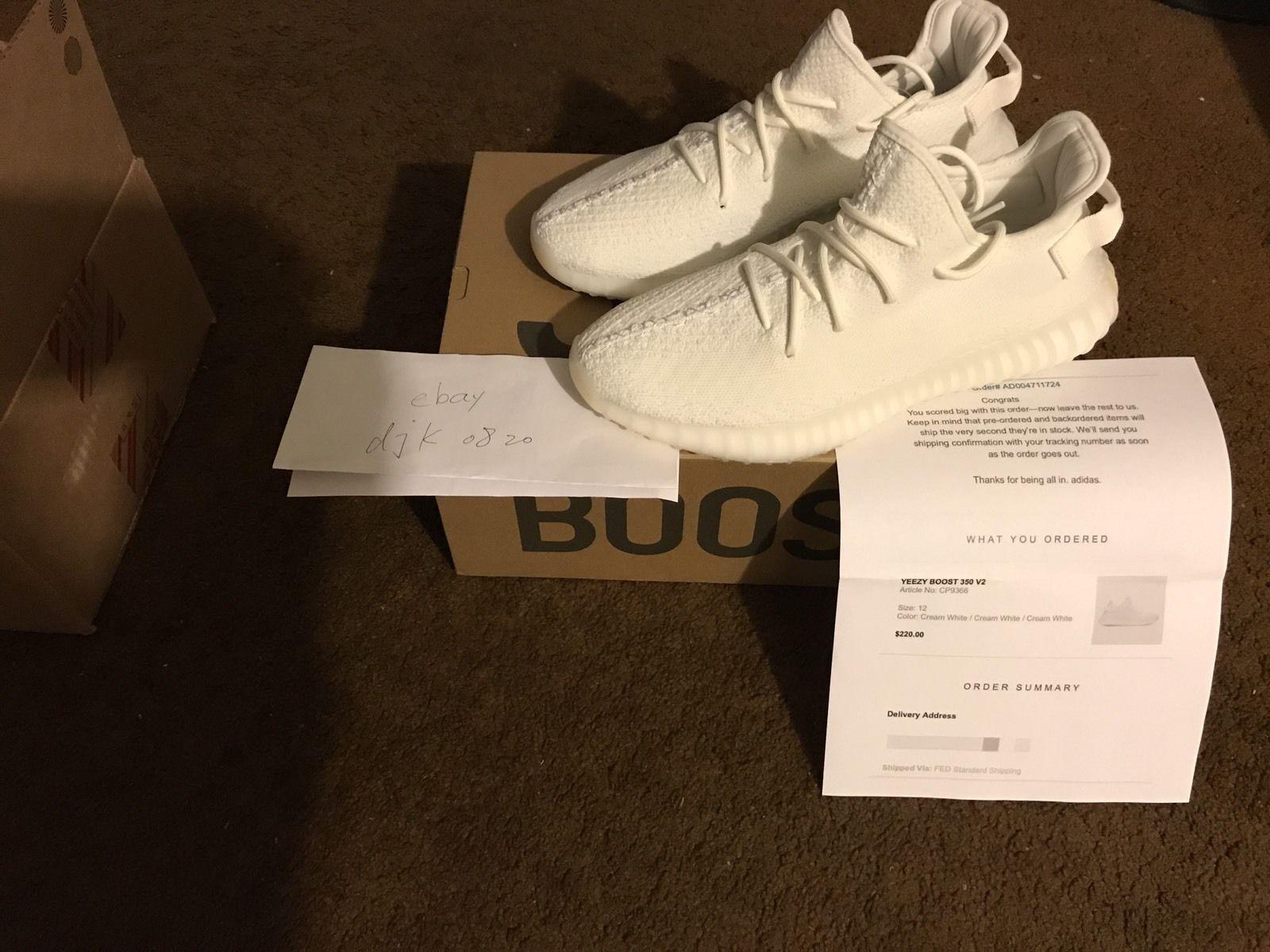 ebb3360f891d0 ... cheap adidas yeezy boost 350 v2 cream white cp9366 us mens size 12  f9338 aeeb7