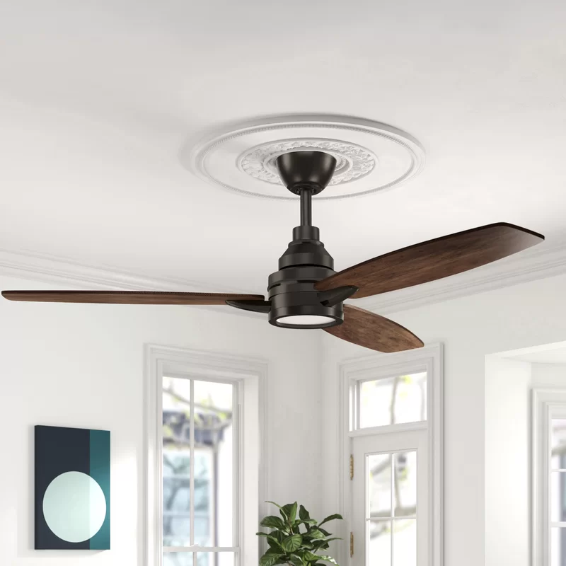 60 Troy 3 Blade Led Ceiling Fan With Remote Light Kit Included
