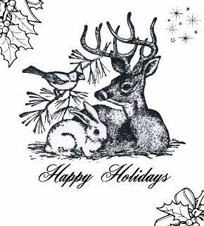 **FREE ViNTaGE DiGiTaL STaMPS** ~ Christmas Happy Holidays printable...