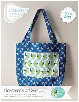 Quilt Inspiration: Free pattern day: Tote bags ! | Bags, totes ...