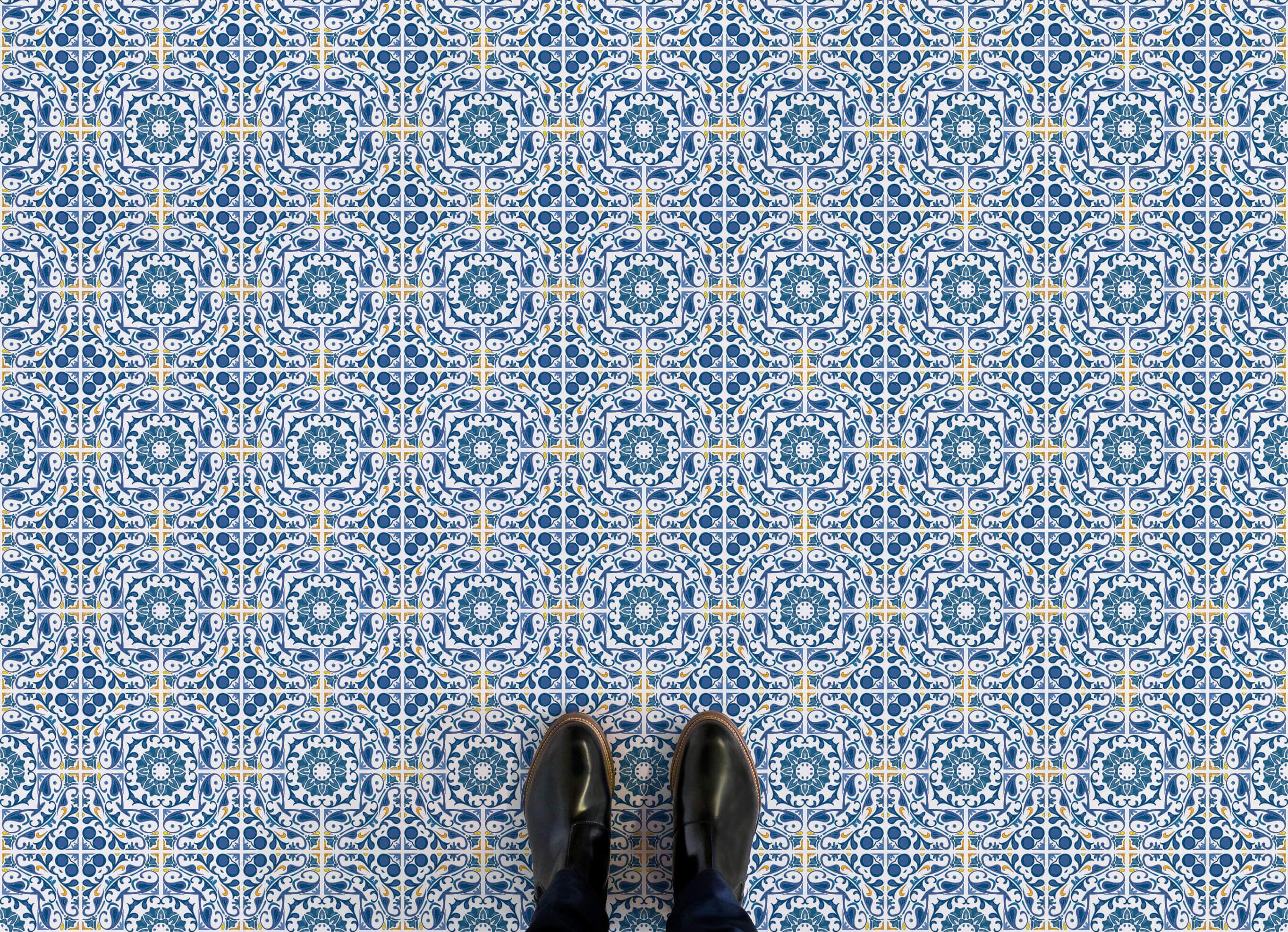lisbon-portuguese-tile-vinyl-flooring-blue-feet.jpg 2,728×1,974 ...