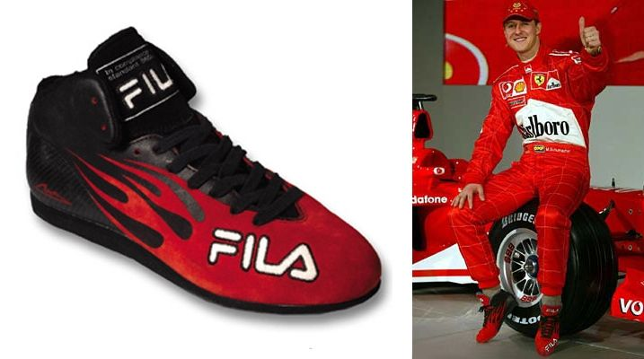 61404716009 Motorsports footwear work for Fila Concepts and products for Ferrari,  Ducati and Michael Schumacher franchises.