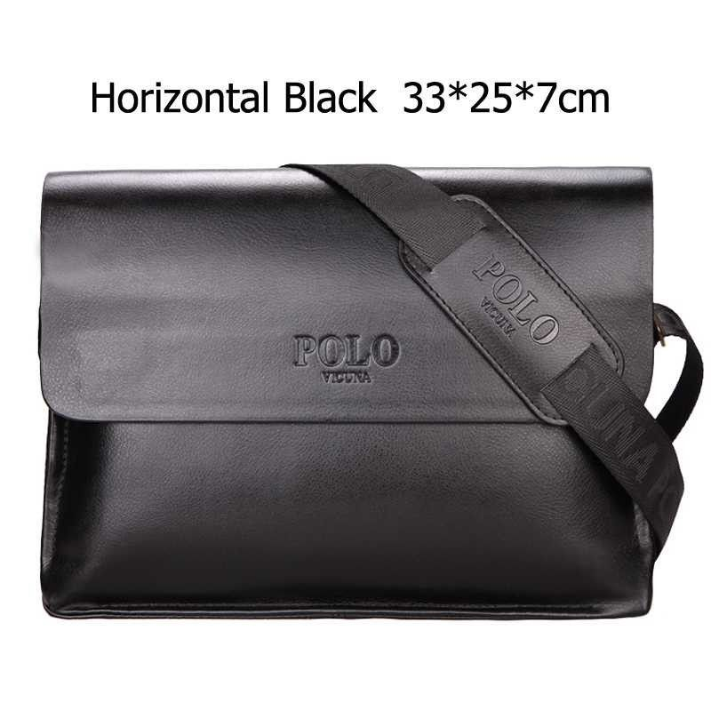 e33a6671c8b7 VICUNA POLO Famous Brand Classic Design Leather Mens Messenger Bags  Promotional Casual Business Man Bags Shoulder Bag Briefcase
