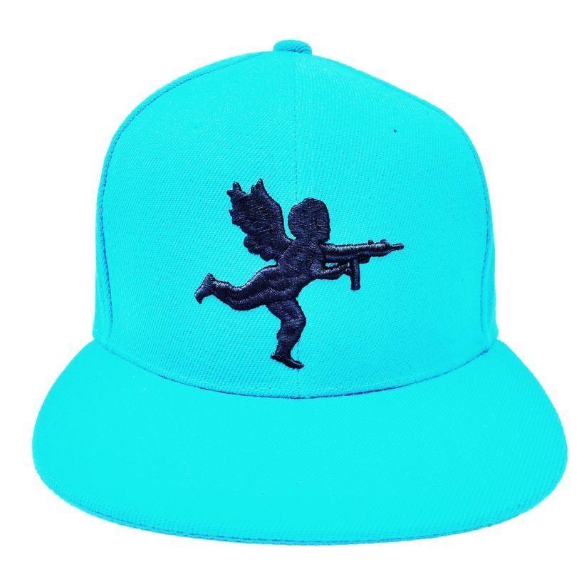 Vanilla Ice Aqua Blue   Black Cupid Snapback Hat  14d6f261e73