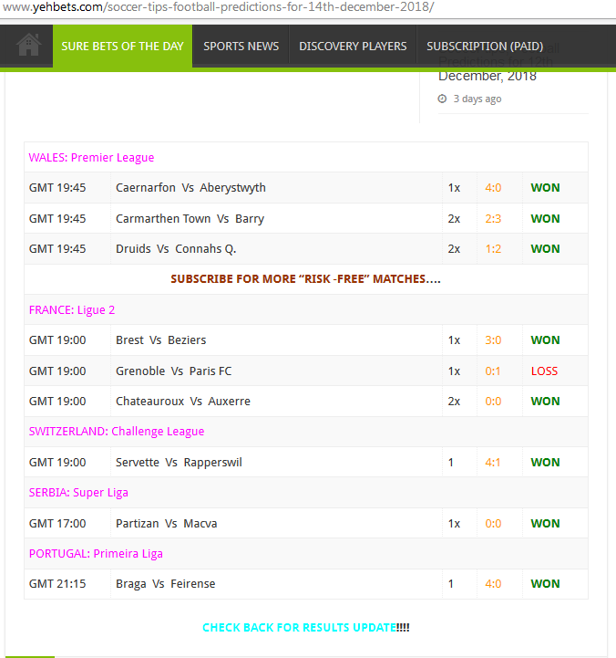 Premier betting yesterday results binary options atm reviews on iphone
