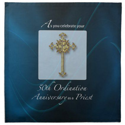 50th jubilee ordination anniversary of priest cloth napkin 50th jubilee ordination anniversary of priest cloth napkin anniversary cyo diy gift idea presents party stopboris Images