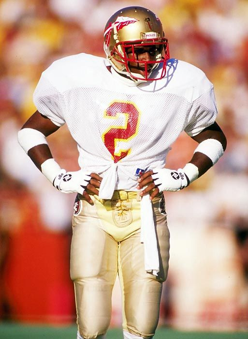 c89a719f657 Deion Sanders @Kerri S. S. Kaufman Thomas he had to look good as well. Deion  Sanders in college College Football Players, Florida State ...