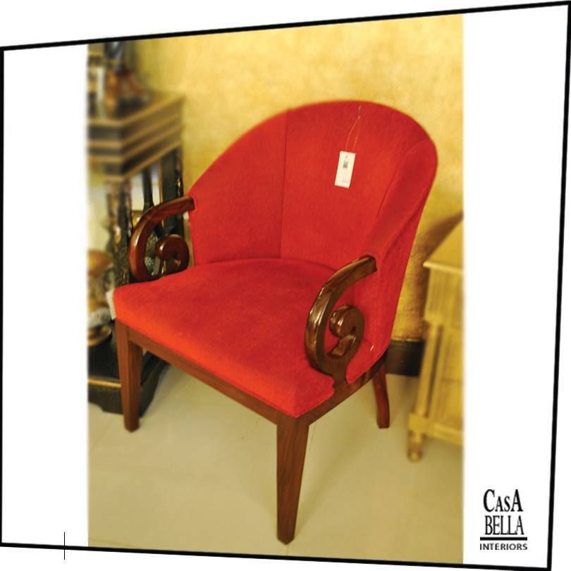 Where Would You Place This Stylish Red Chair In Your Home