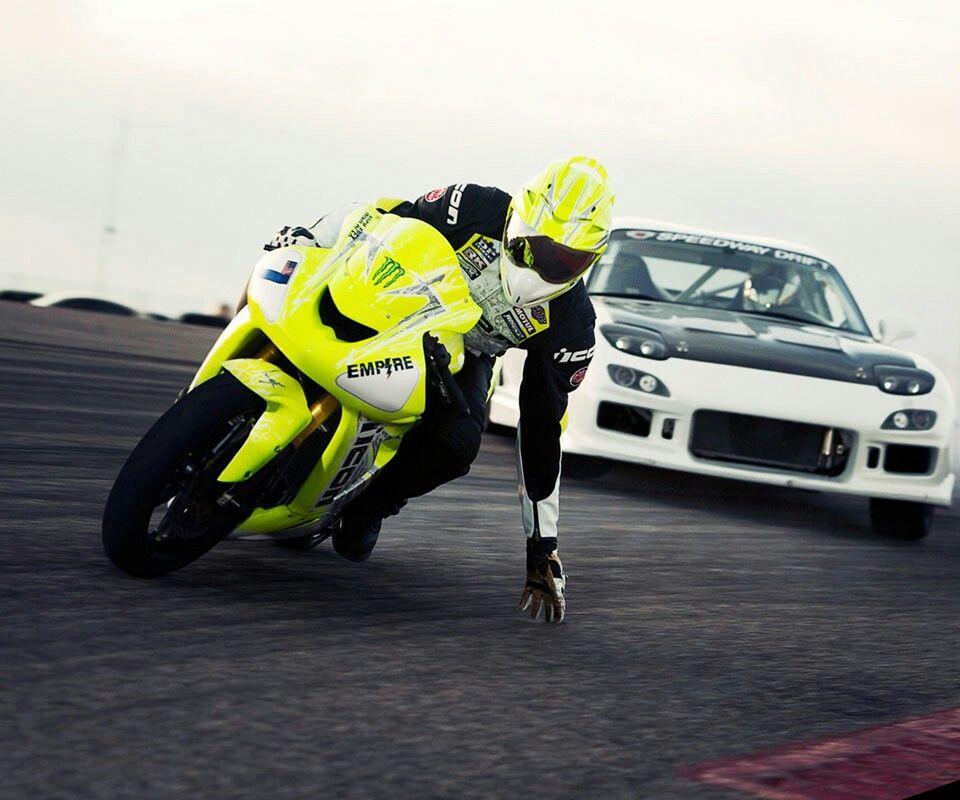 Bike And Car Drift Car Mazda Rx7 Racing Bikes