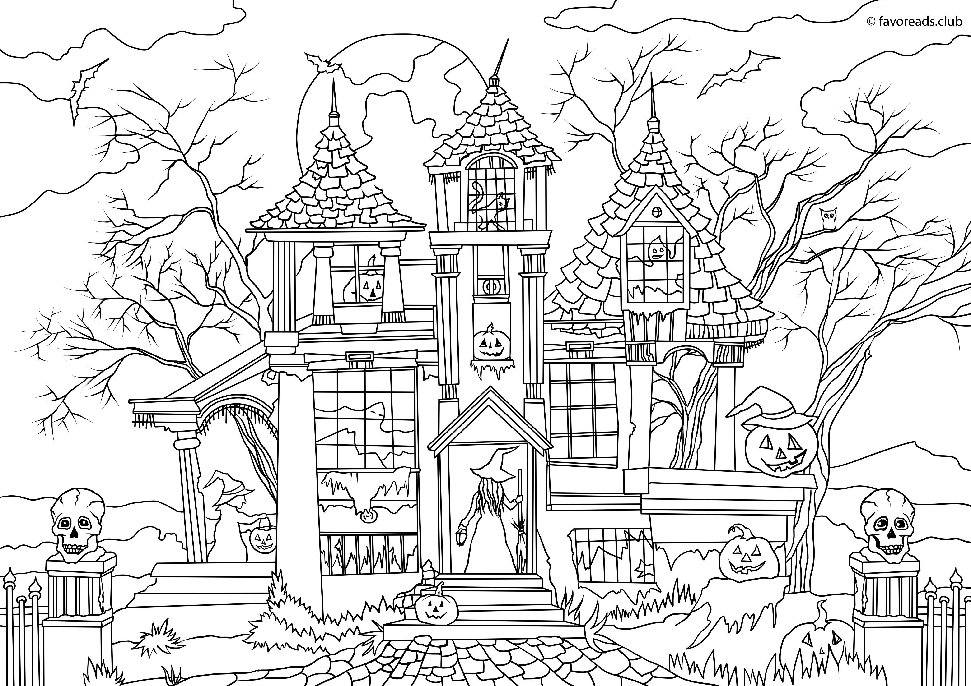Ausmalbilder Halloween Erwachsene : Pin Von Barbara Brantley Auf Coloring Pages Pinterest
