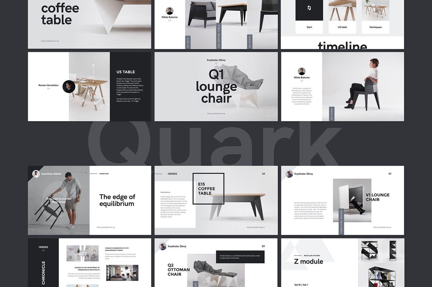 Quark #Keynote Presentation Template https://www.behance.net/gallery ...