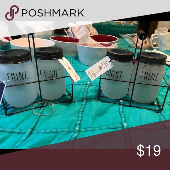 Shine Bright Mason Jar tealight candleholders Brand New With tags ...