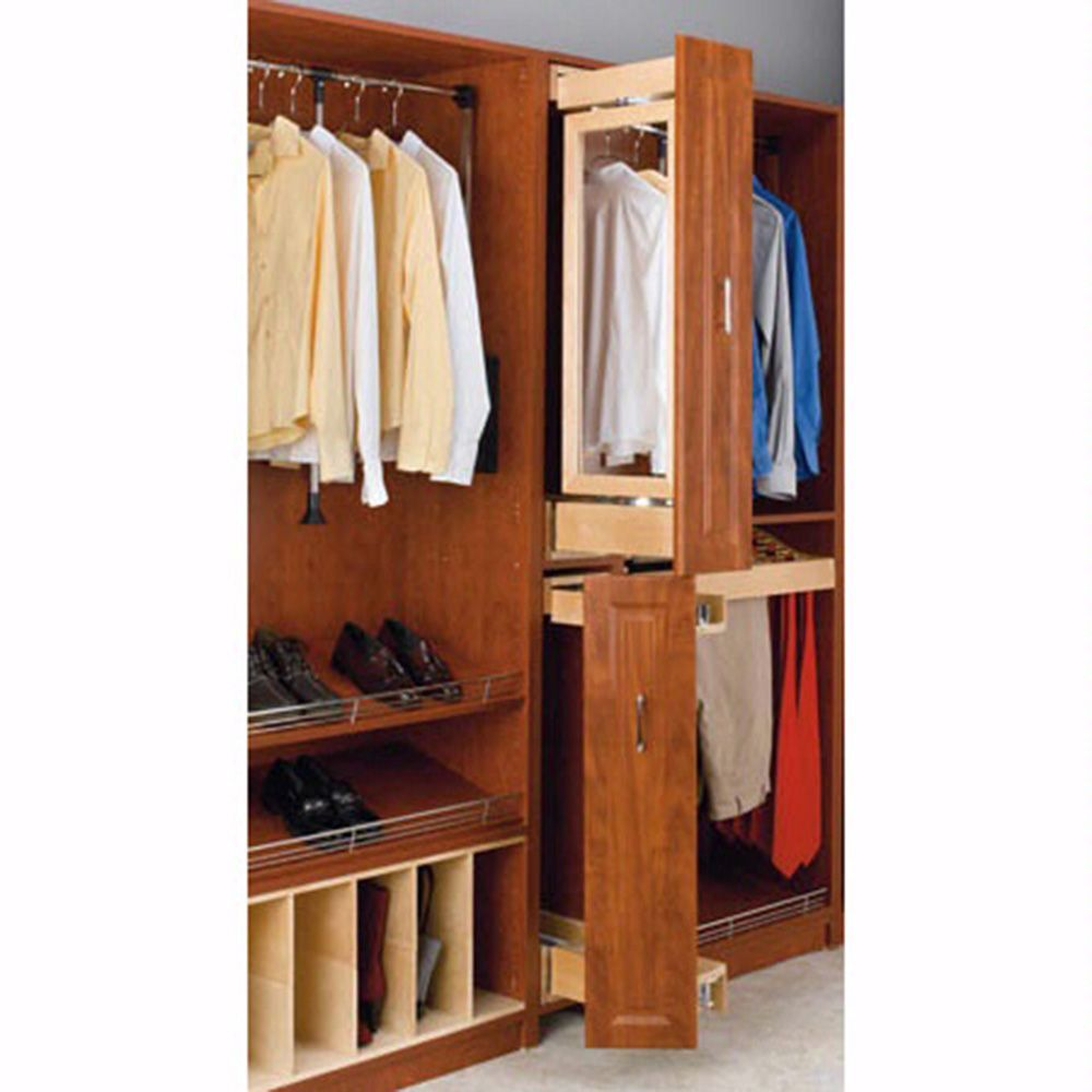 Gentlemen S Armoire Natural Cag 081642 1 Closet Storage Home