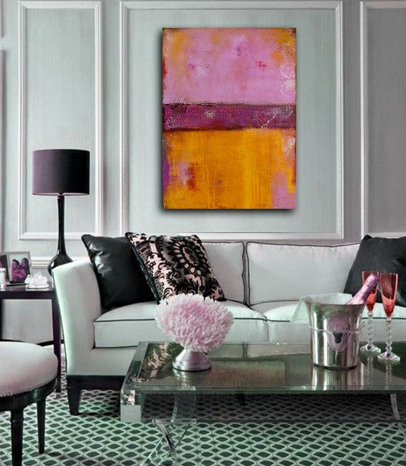 Wall Art Painting colorful Abstract painting on von erinashleyart