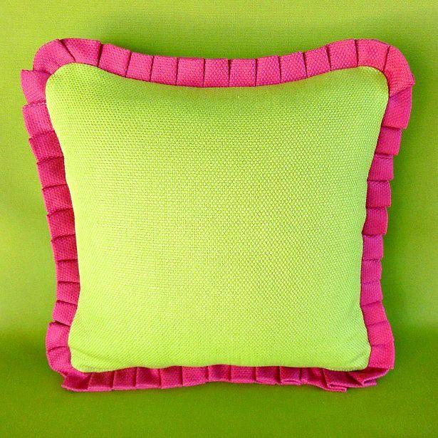 knife pleat ruffle pillow 1