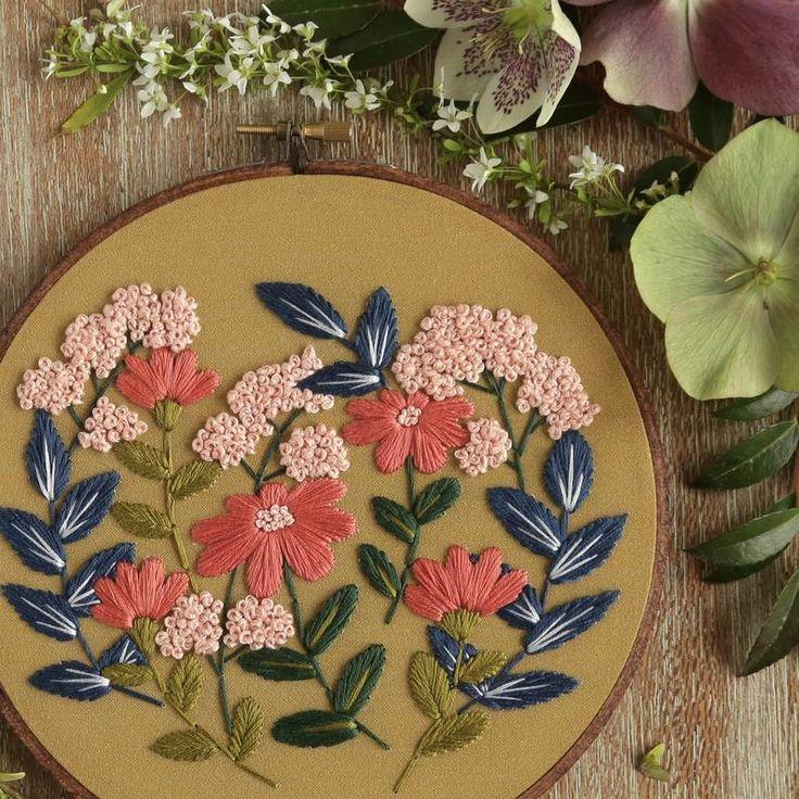 Embroidery Kit Beginner Embroidery Hoop Art Hand