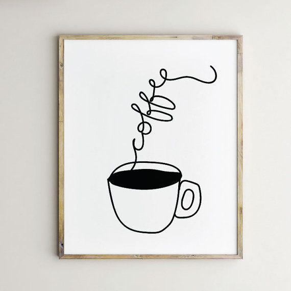 Coffee Artwork Coffee Print Coffee Art Coffee Art Print Coffee