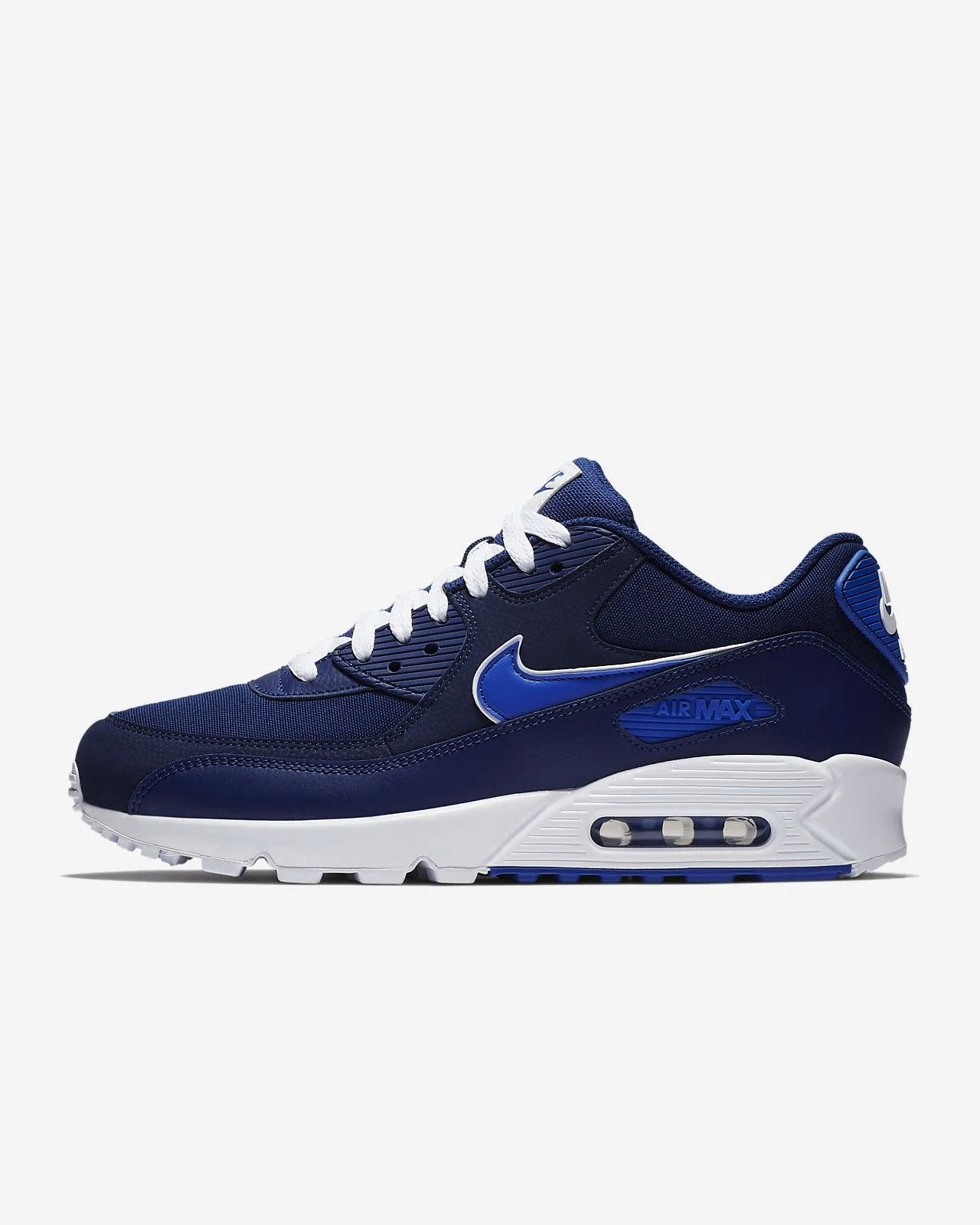 053378794f1 Nike Air Max 90 Essential Blue Void White Game Royal Men s Lifestyle AJ1285- 401  nikeairmax90  nikeairmax  nike
