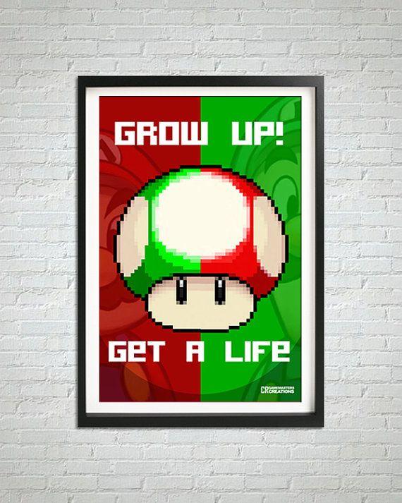 Mario Luigi Pixelart Print By Cr Gamemasters In 2019
