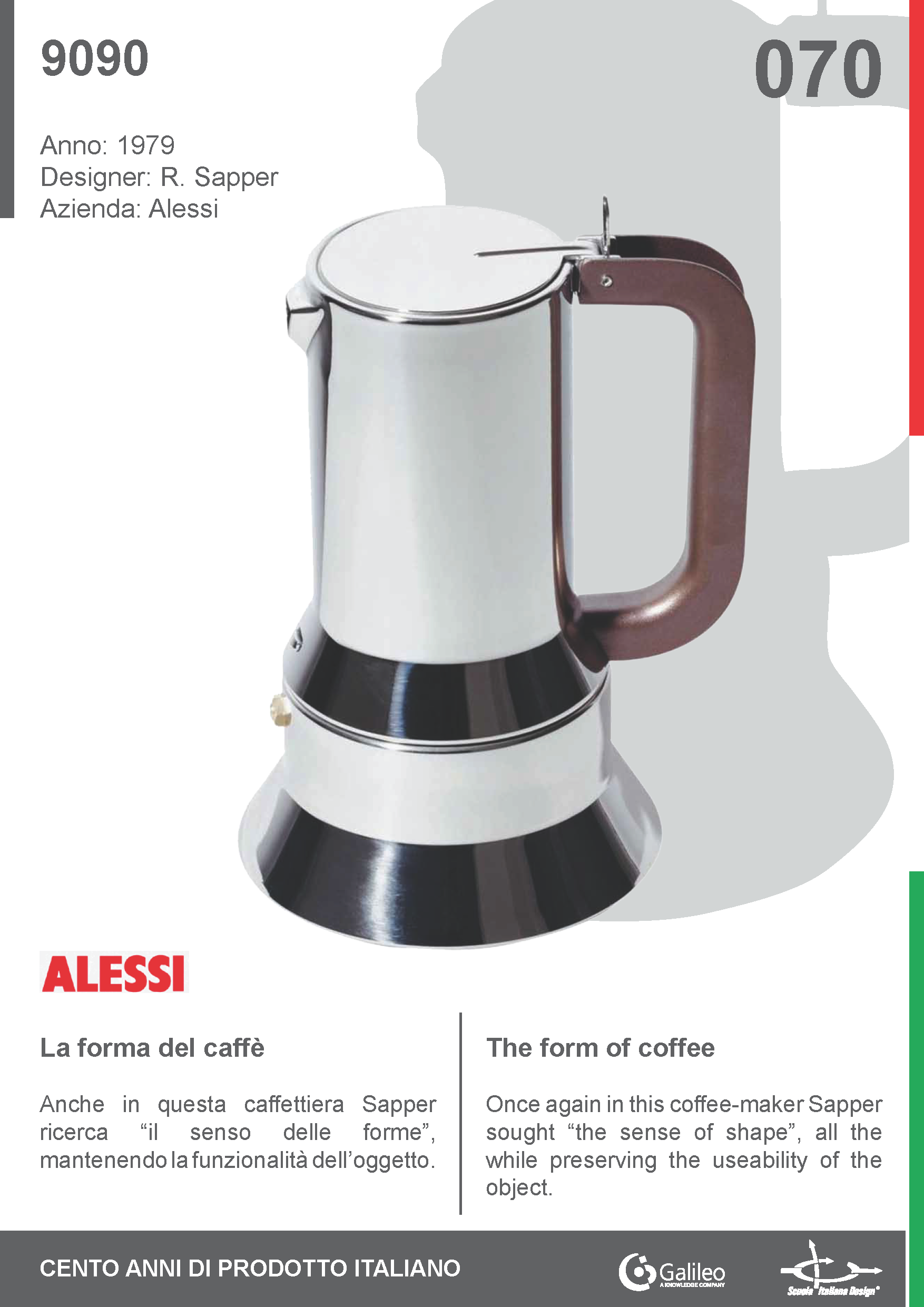 9090 By Richard Sapper For Alessi (1979) #Coffee #Maker