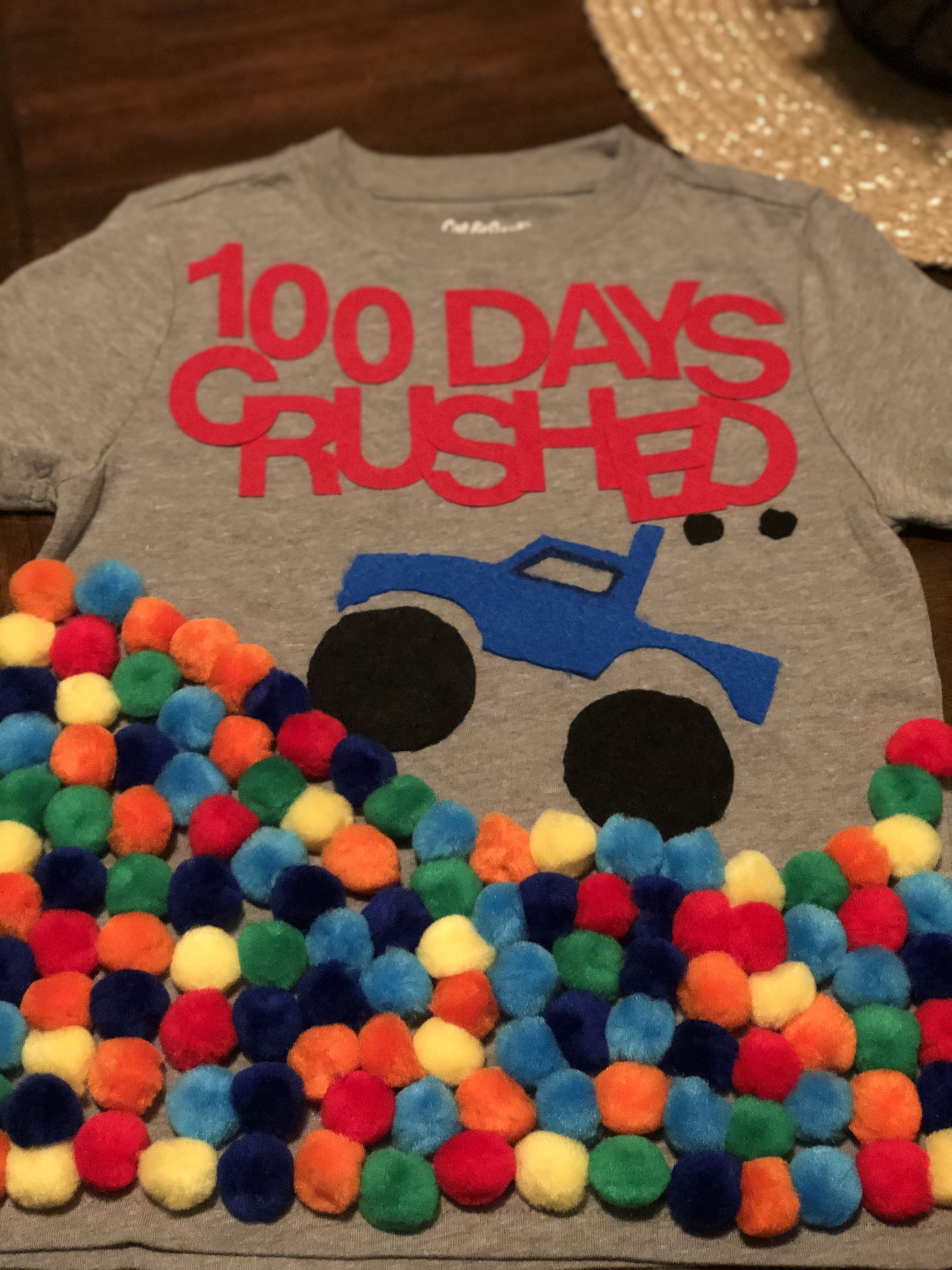 100 Day Of School Monster Truck Shirt With Images 100th Day