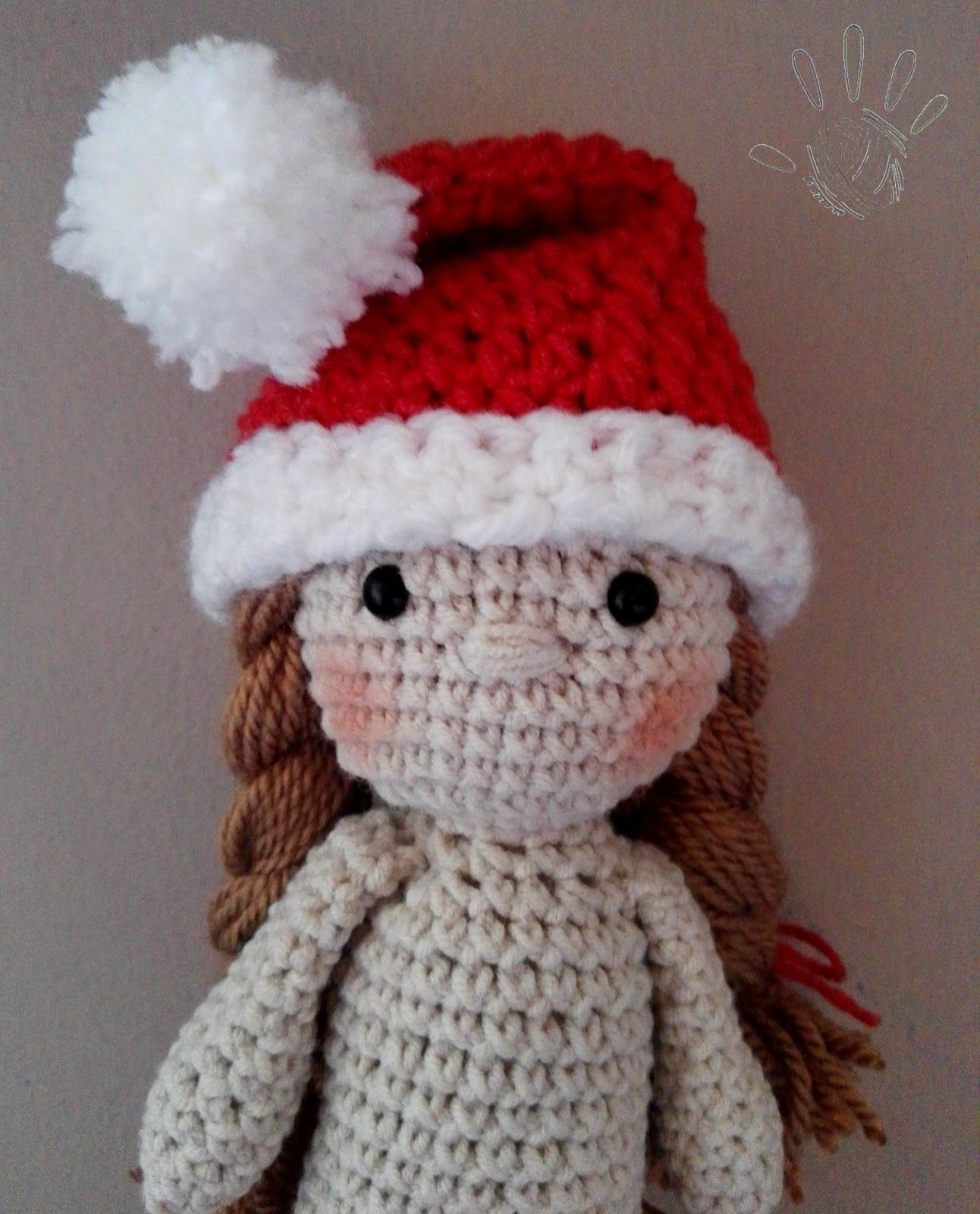 Santa girl! Crochet doll pattern byania.etsy.com. | crocheting by ...