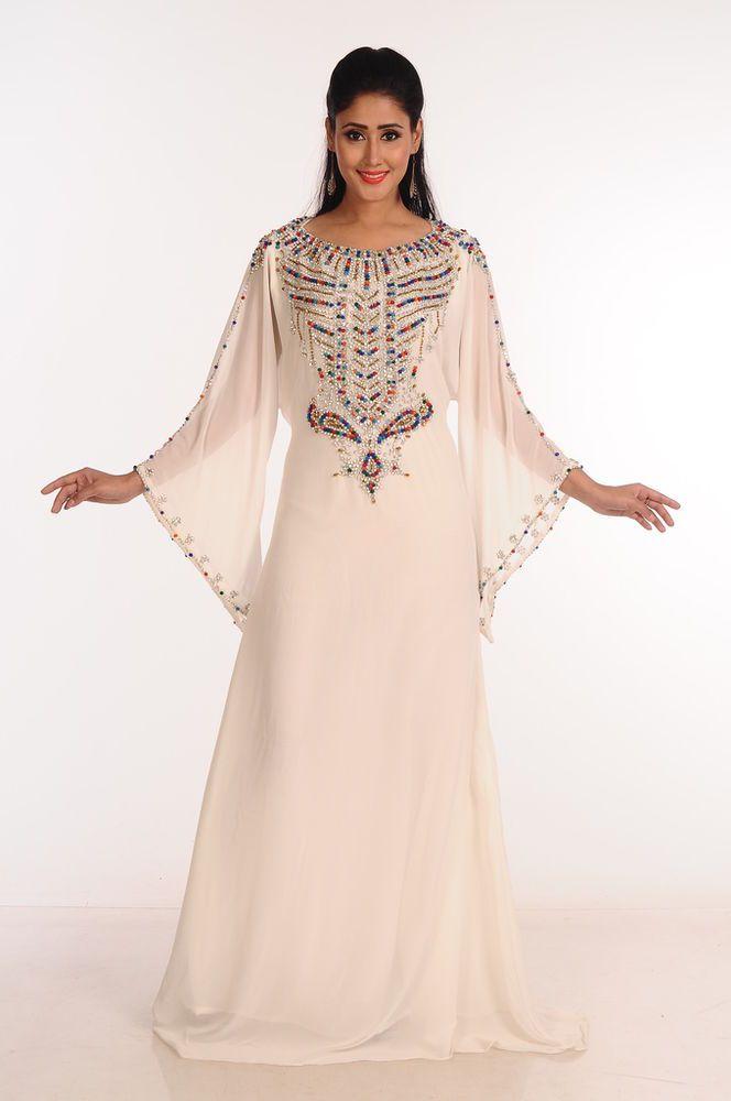 Moroccan Gown Abaya Dubai Fancy Kaftan Caftan Farasha Jilbab Jalabiya Dress  S57  Handmade  AllColor  Cocktail 9fb849a1d1c