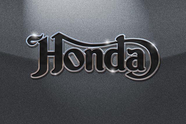 honda logo in norton script motorcycles moto. Black Bedroom Furniture Sets. Home Design Ideas