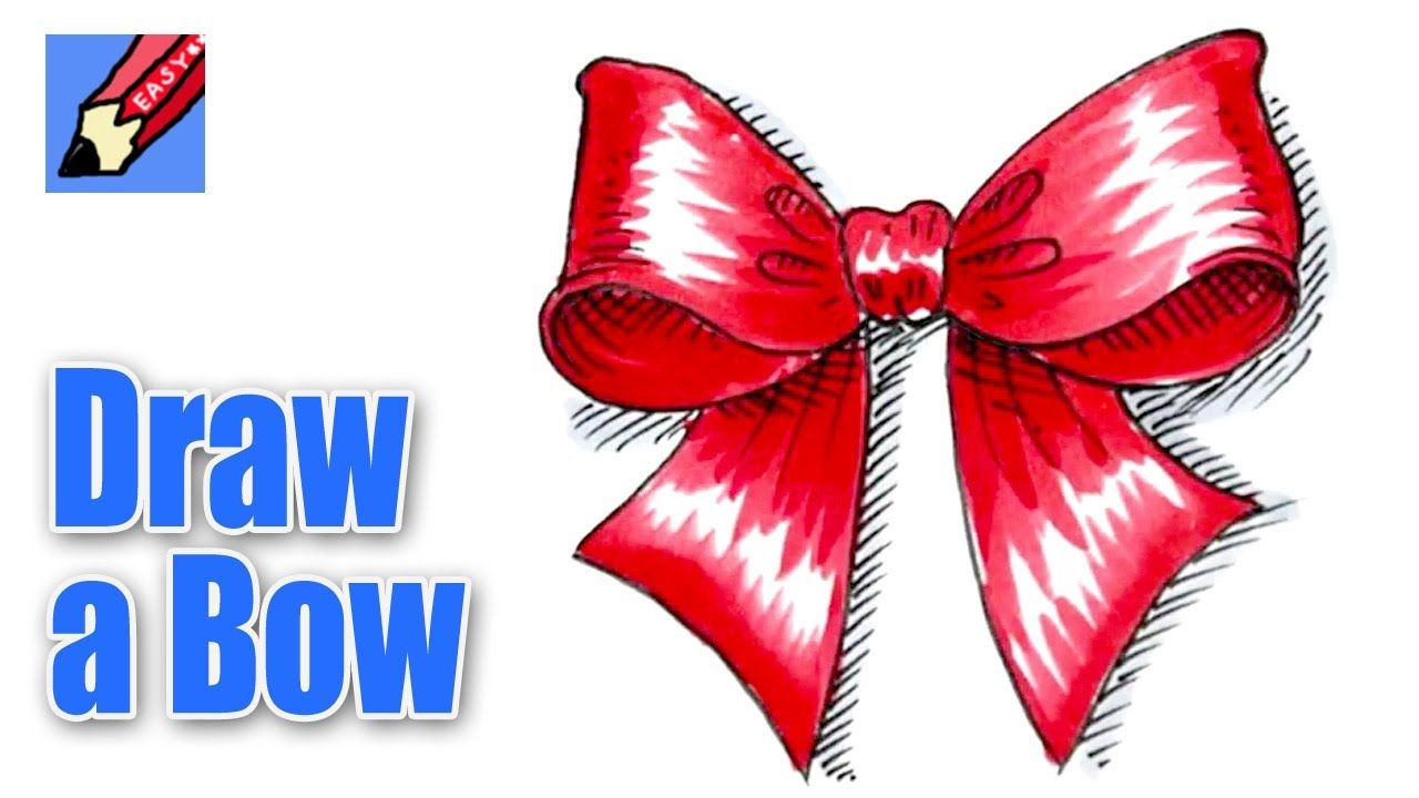Learn How To Draw A Christmas Bow With Award Winning