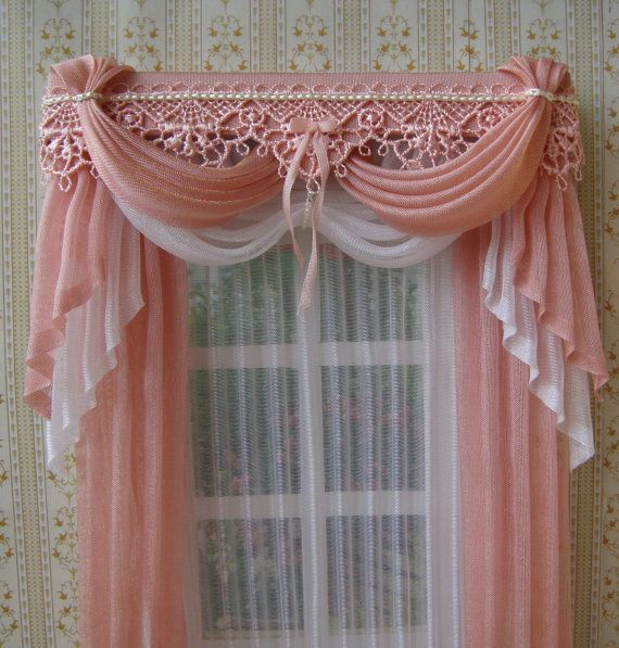 Miniature 1 12 Dollhouse Curtains To Order Curtains Home