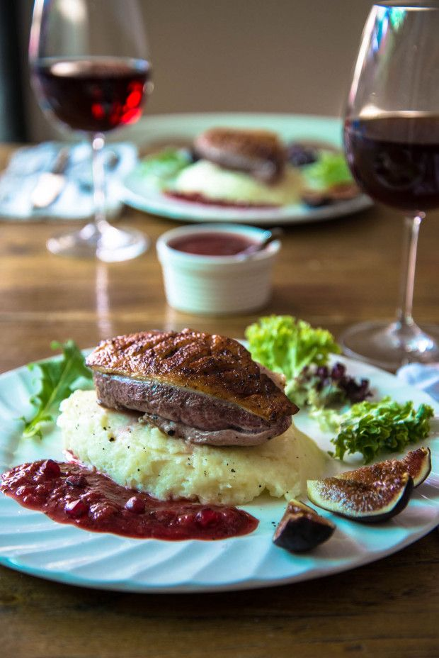 Duck with Plum Sauce & Figs for a romantic dinner