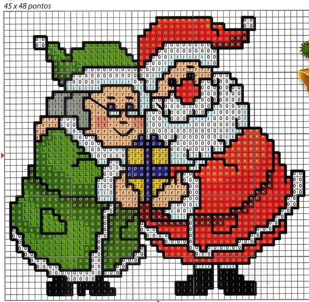 Boa noite!! O Natal já está aí e por isso vou postar alguns gráficos fáceis e bonitos de fazer. Tem gráficos encontrados na internet,da Nan...
