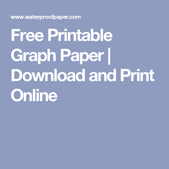 Free Printable Graph Paper Download And Print Online Diy And