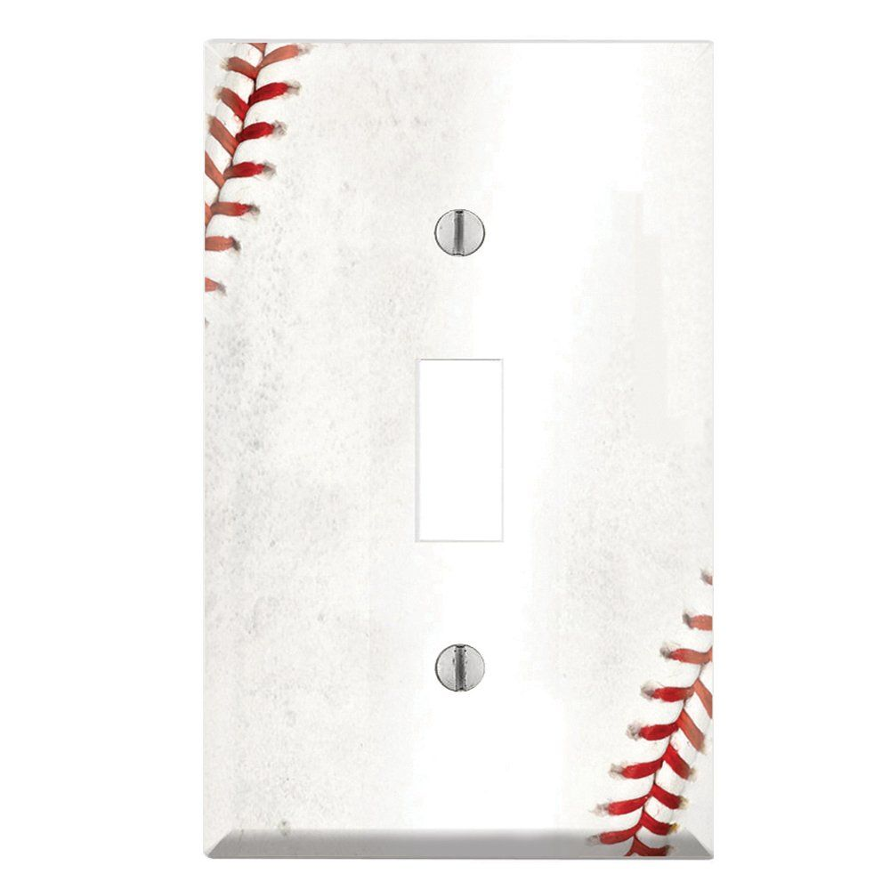 Decorative Light Switch Wall Plates Enchanting Decorative Single Toggle Light Switch Wall Plate Cover  Baseball Design Decoration
