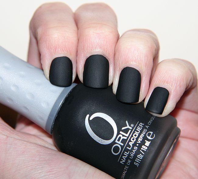ongle, noir, vernis, mats | Nail art | Pinterest | Matte nail polish ...