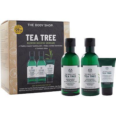 The Body Shop Tea Tree Anti Blemish Routine Kit Body Shop Tea Tree Tea Tree Oil For Acne The Body Shop