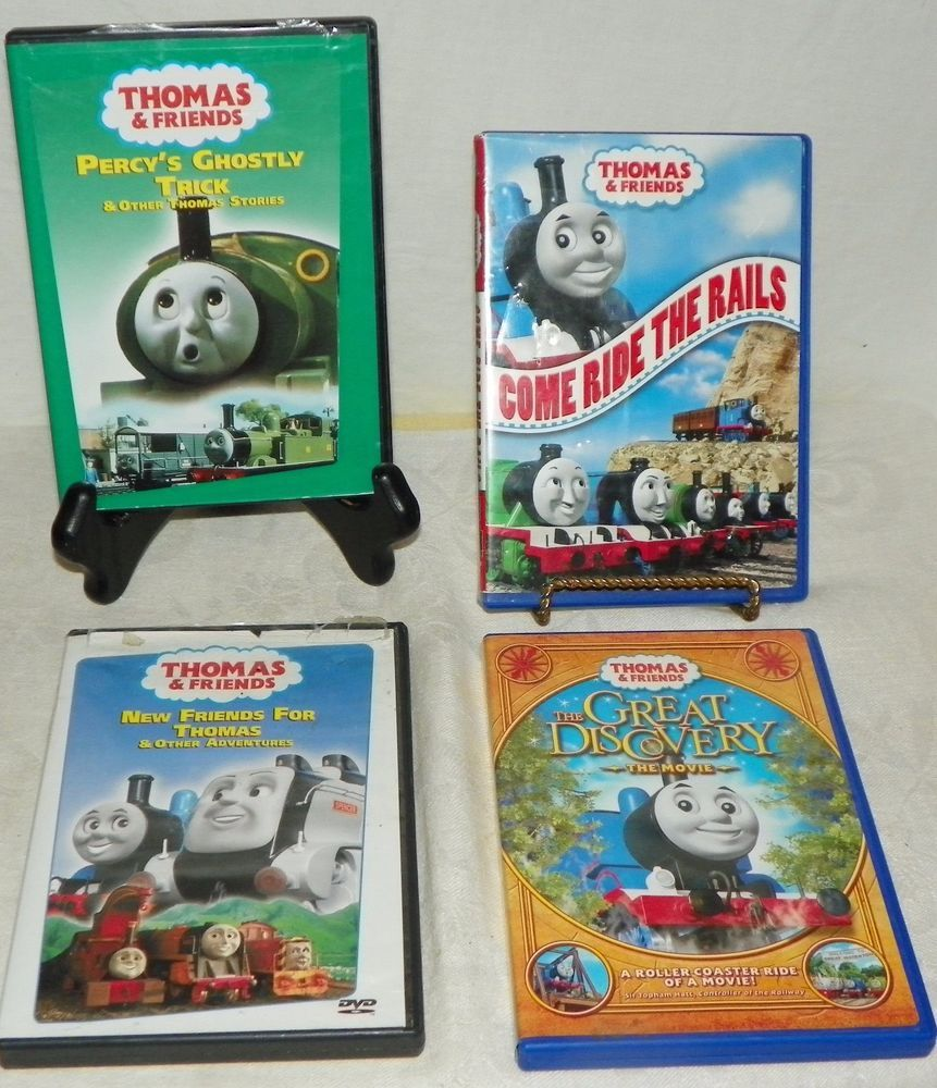 Thomas And Friends Lot Of 4 Kids Dvds The Great Discovery Come Ride Snap Circuits Jr Sc 100 Electronics Kit New Factory Sealed Rails