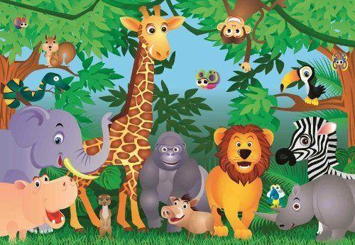 Safari Animal Wall Murals Photo Wallpaper Jungle Animals