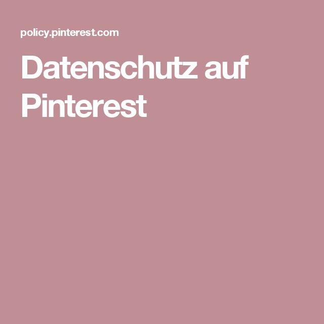 Pinterest Datenschutz