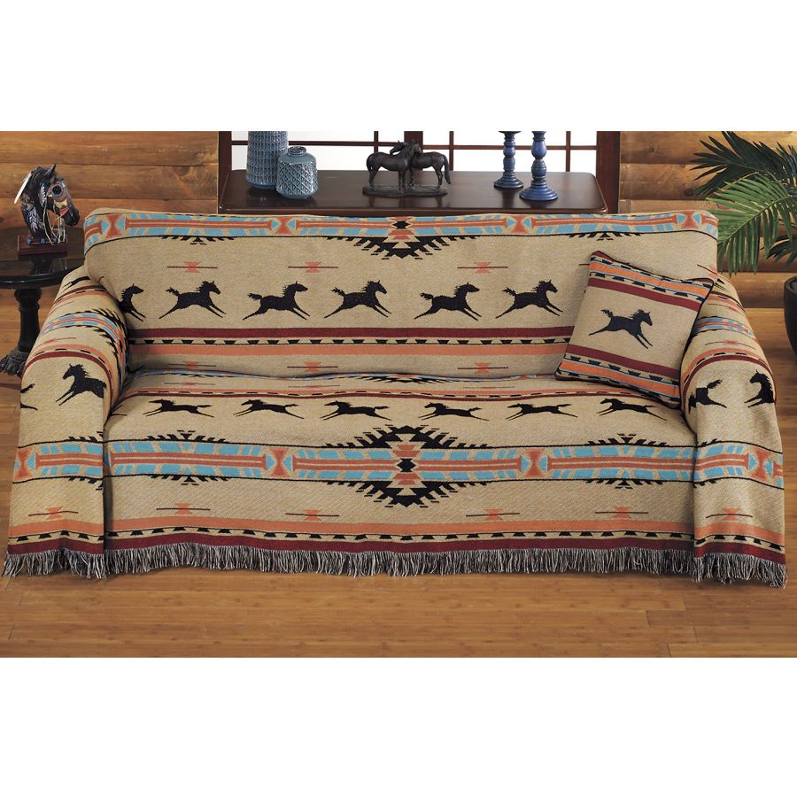 Ordinaire Southwest Horses Furniture Covers   Horse Themed Gifts, Clothing, Jewelry  And Accessories All For Horse Lovers | Back In The Saddle