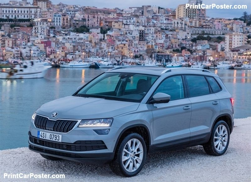 skoda karoq 2018 poster cars car posters car combustion engine