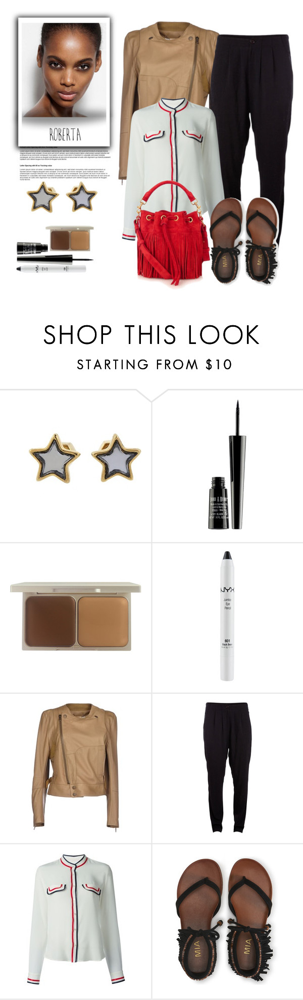 """""""Styling a Harem Panth in elegant way..."""" by gul07 ❤ liked on Polyvore featuring Marc by Marc Jacobs, Lord & Berry, Stila, NYX, Chloé, Pieces, Mauro Grifoni, Aéropostale and Yves Saint Laurent"""