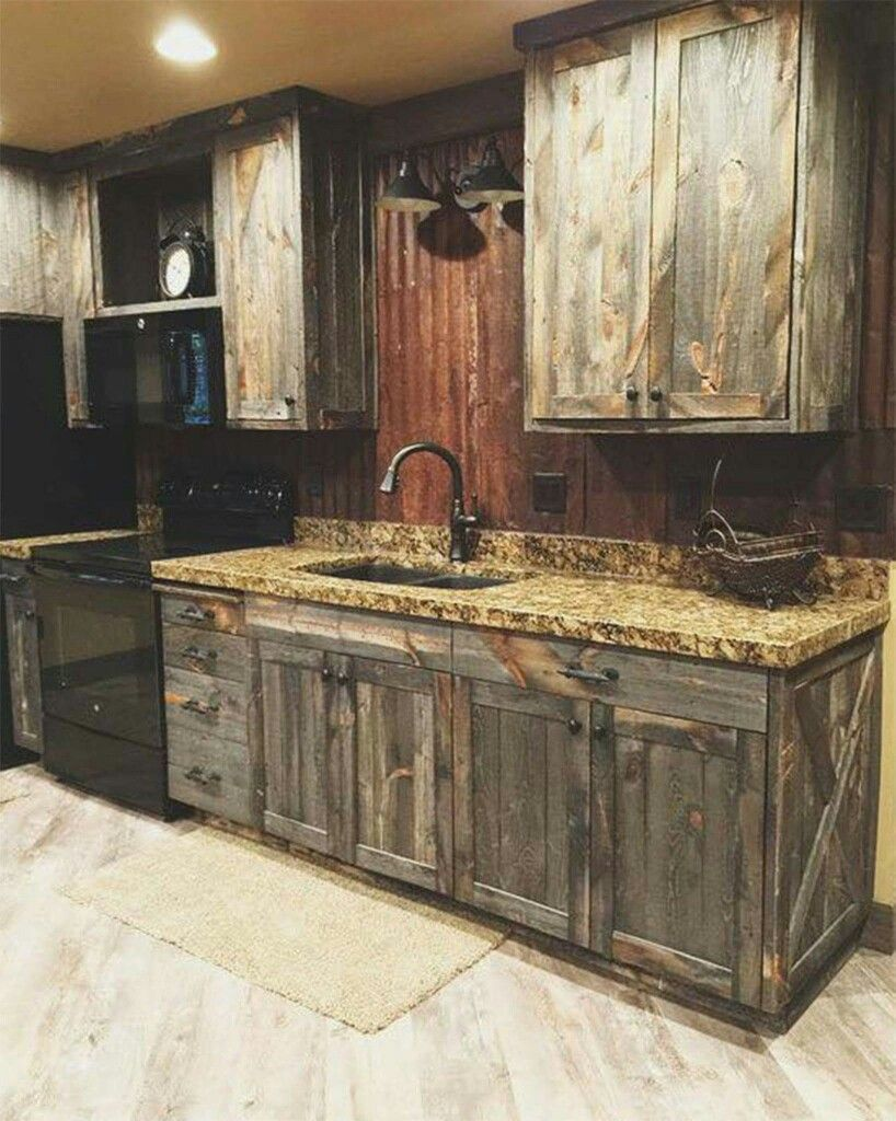 Barn Wood Kitchen Cabinet Doors Cabinets Out Of Old Barn Doors … | Interior Barn Doors In