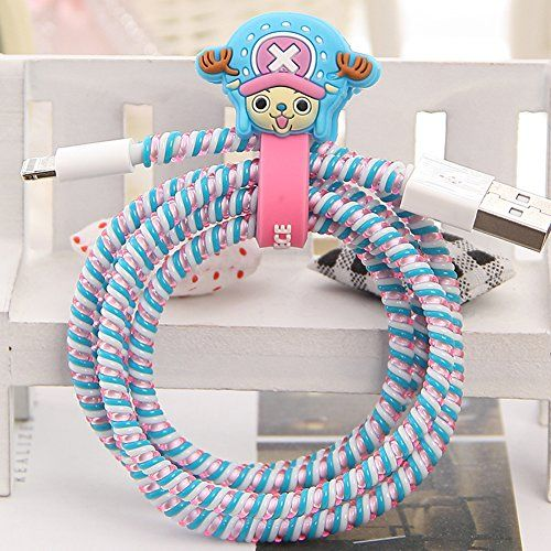 Tospania diy cartoon style spiral wire protectors cable Charger cord organizer diy